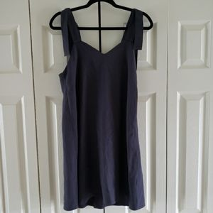 ASOS A Line Shift Overall Dress Charcoal US Size 4